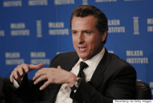 Gavin Newsom, lieutenant governor of California. Photographer: Patrick T. Fallon/Bloomberg via Getty Images