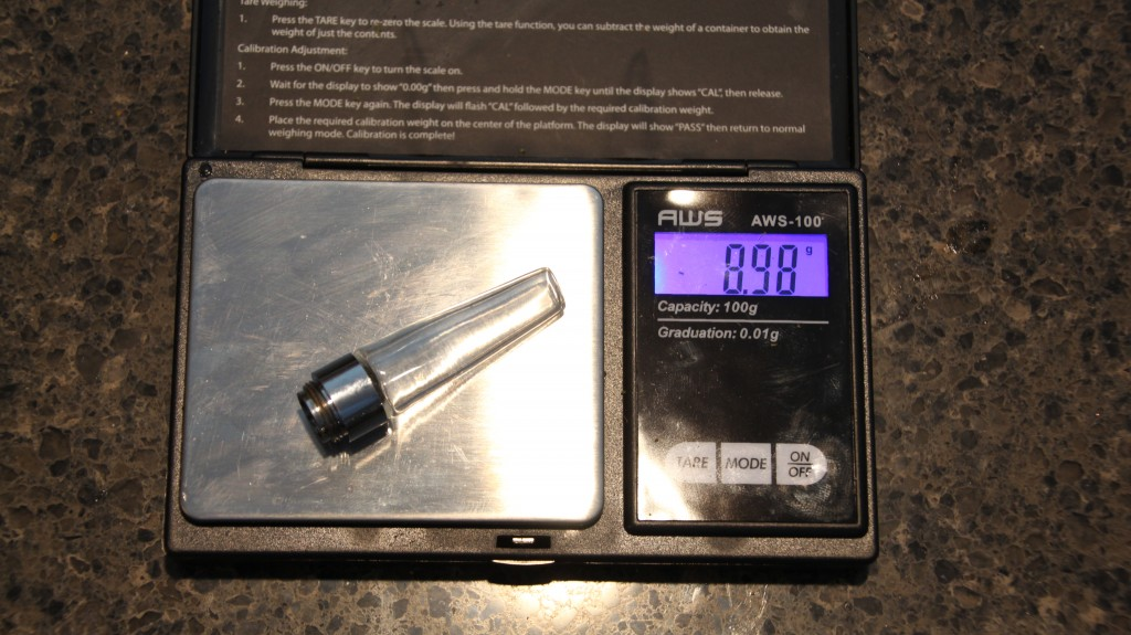 Flowermate Mini stem on scale
