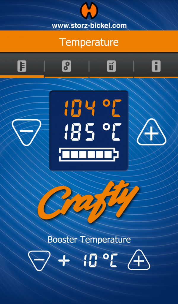 Crafty Temperature Control From Application