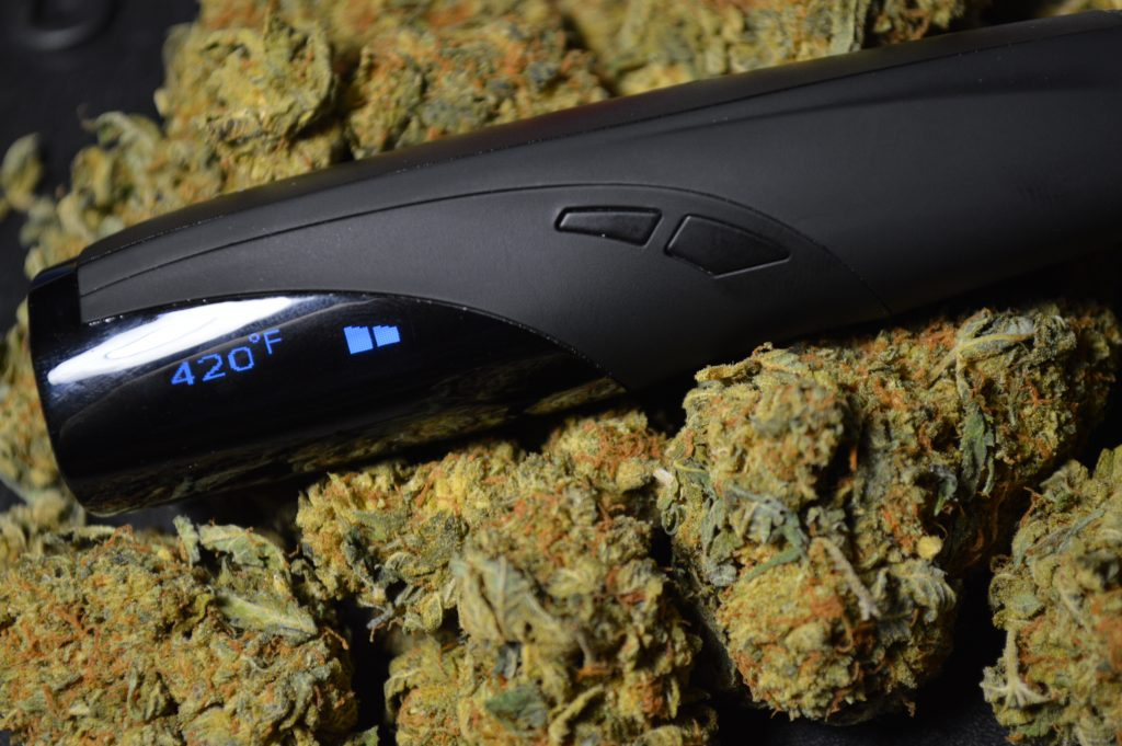 G Pen Elite Sitting on Dried Cannabis Flower